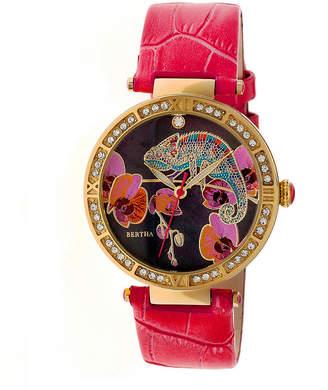 BERTHA Bertha Womens Red Strap Watch-Bthbr6205