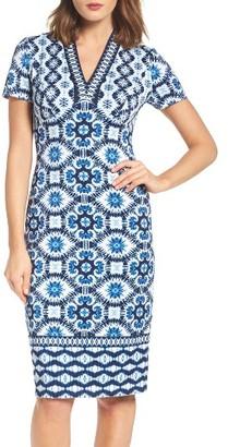 Women's Maggy London Ikat Sheath Dress $128 thestylecure.com