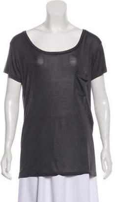 Saint Laurent Casual Silk T-Shirt