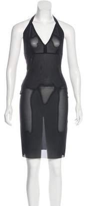 Roland Mouret Mesh Halter Dress