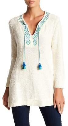 Tommy Bahama Front Tassel Knit Sweater