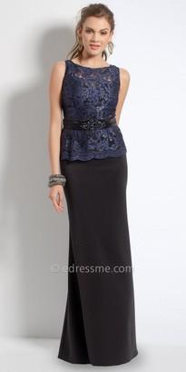 Camille La Vie Two Tone Lace Peplum Evening Dress $160 thestylecure.com