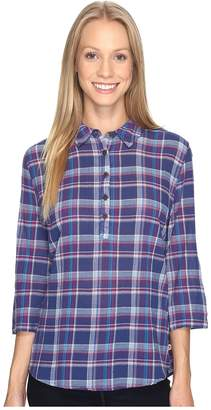 Royal Robbins Oasis Plaid Popover Top Women's Long Sleeve Pullover