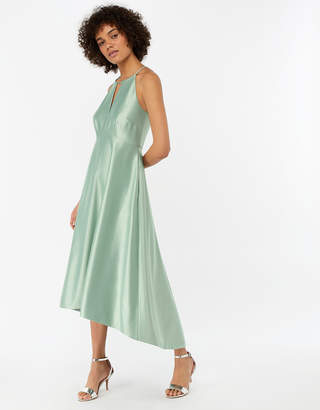 Monsoon Sara Fit & Flare Satin Dress