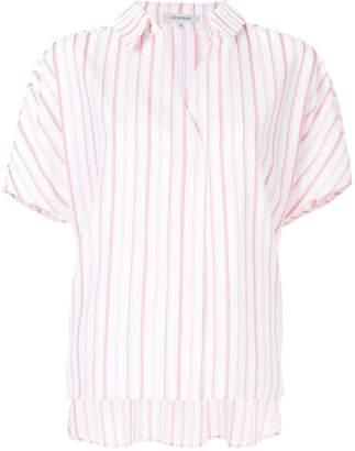 GUILD PRIME striped V-neck shirt
