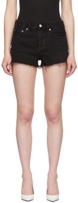 A Gold E Agolde Black Vintage Cut-Off Shorts