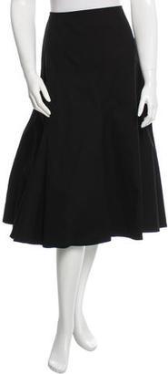 Yohji Yamamoto Flared Knee-Length Skirt w/ Tags $295 thestylecure.com