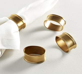 Pottery Barn Antique Gold Napkin Ring, Set of 4