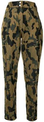 Plein Sud Jeans camouflage print trousers