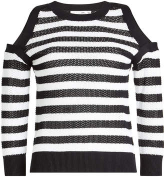 Rag & Bone Tracey Cotton Pullover with Cold Shoulders