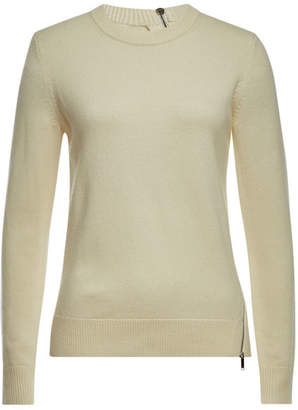 Proenza Schouler Zipper-Trim Pullover with Wool, Silk and Cashmere