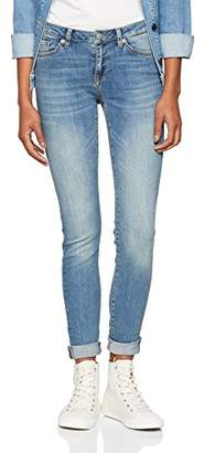 Selected Women's Slfida Mw Skinny Mid Blue Jeans Noos W (Medium Denim), W29/L30 (Size: 29)