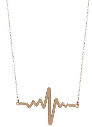 Candela 10K Yellow Gold Heartbeat Necklace