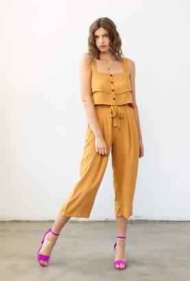 Azalea Tie Front Wide Leg Pants