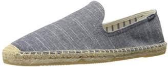 Soludos Men's Striped Linen Smoking Slipper Sandal