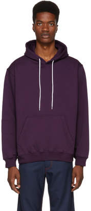 MSGM Purple Backwards Logo Hoodie
