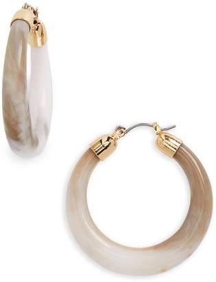 Halogen Tapered Hoop Earrings