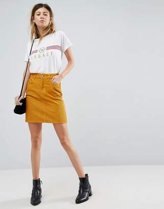 Asos Cord Original Skirt In Marigold