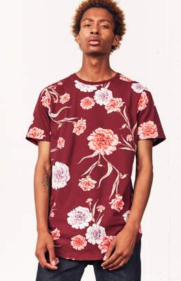 GUESS Pacsun Pelleas Floral Scallop T-Shirt