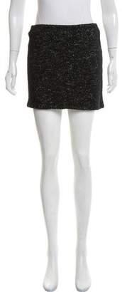 Alice + Olivia Tweed Wool Mini Skirt