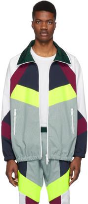 DSQUARED2 White Oversized Colorblocked Jacket