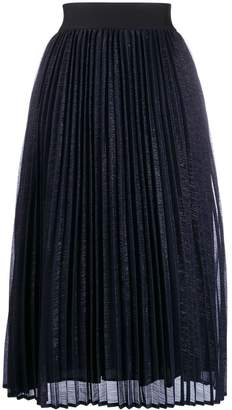 Edward Achour Paris pleated midi skirt