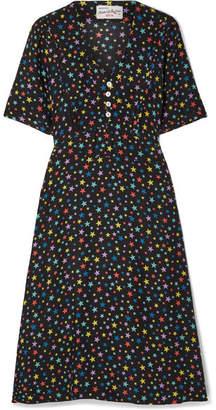 DAY Birger et Mikkelsen HVN - Lola Printed Silk Crepe De Chine Dress - Black