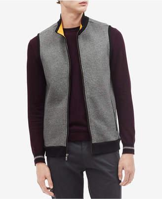 Calvin Klein Men's Classic Fit Fleece Zip-Up Vest