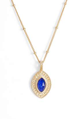Anna Beck Lapis Marquise Pendant Necklace
