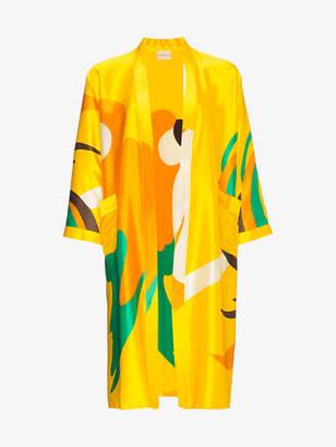 Simon Miller Owosso parrot print silk kimono
