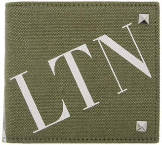 Valentino Green Garavani Canvas VLTN Wallet