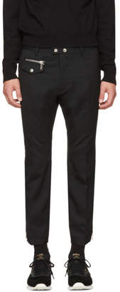 DSQUARED2 Black Biker Ski Trousers