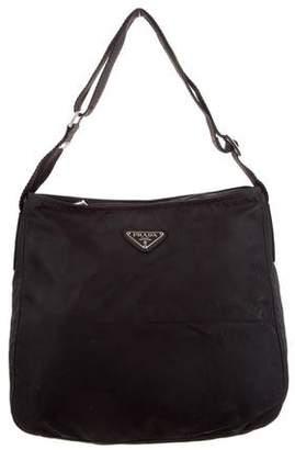 Prada Leather-Trimmed Tessuto Bag