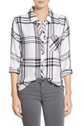 Women's Rails Hunter Button Down Plaid Shirt $148 thestylecure.com