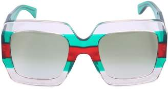 Gucci Pop Web Square Acetate Sunglasses
