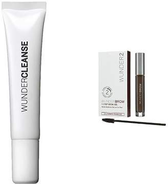 WUNDERCLEANSE Brow Cleanser and WUNDERBROW Perfect Eyebrows in 2 Mins - Black/Brown Duo Set