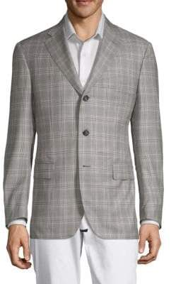 Caruso Plaid Wool Jacket