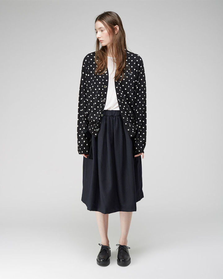 Comme Des Garcons Play Oversized Dot Cardigan