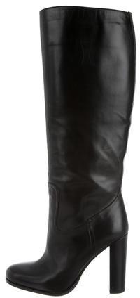 pradaPrada Round-Toe Knee-High Boots