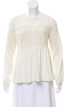 Chelsea Flower Broderie Anglaise Long Sleeve Top