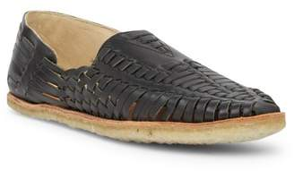 Toms Black Leather Huarache Sandal
