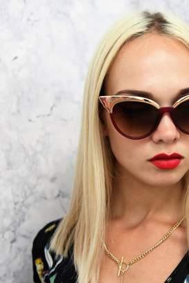 Girls On Film Jourdan Cat Eye Sunglasses In Red