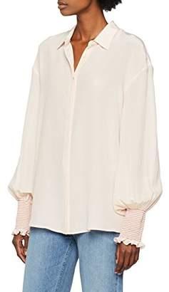 243b3692c0 Pinko Women's Alberto Camicia Crepe DE Chine Blouse, (Nudo Bianco Gesso  O05),