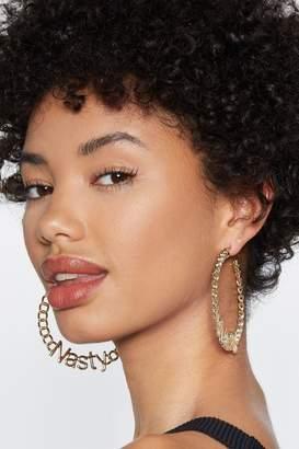 Nasty Gal Get Nasty Hoop Earrings