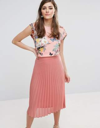 Oasis Floral Placement Cap Sleeve T-Shirt $53 thestylecure.com