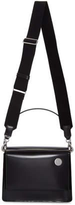 Kara Black Leather Pinch Bag