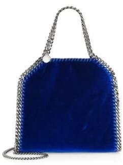 Stella McCartney Mini Velvet Chain Tote