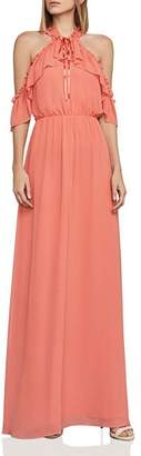 BCBGMAXAZRIA Tracie Cold-Shoulder Gown