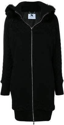 Blumarine zip-up single breasted coat