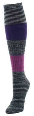Me Moi Memoi Marled Combed Cotton Blend Socks